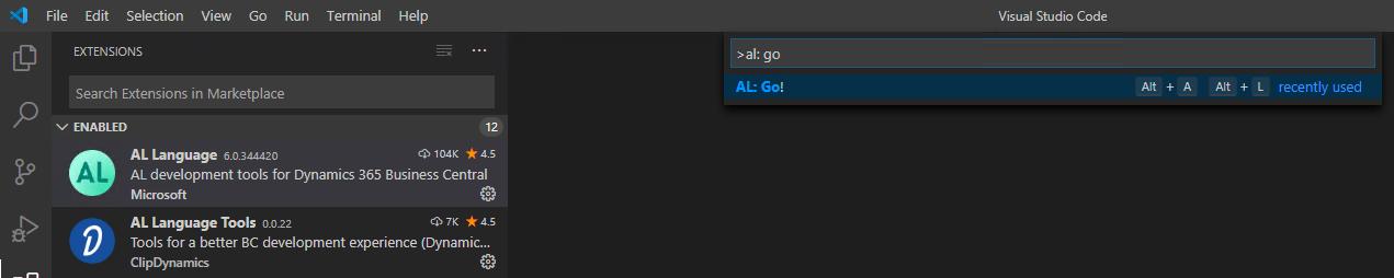 Screenshot_Visual Studio Code Start_ALGo