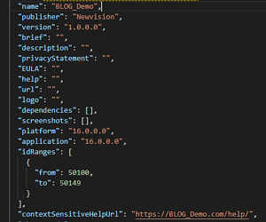 Screenshot_Visual Studio Code_Konfiguration app.json