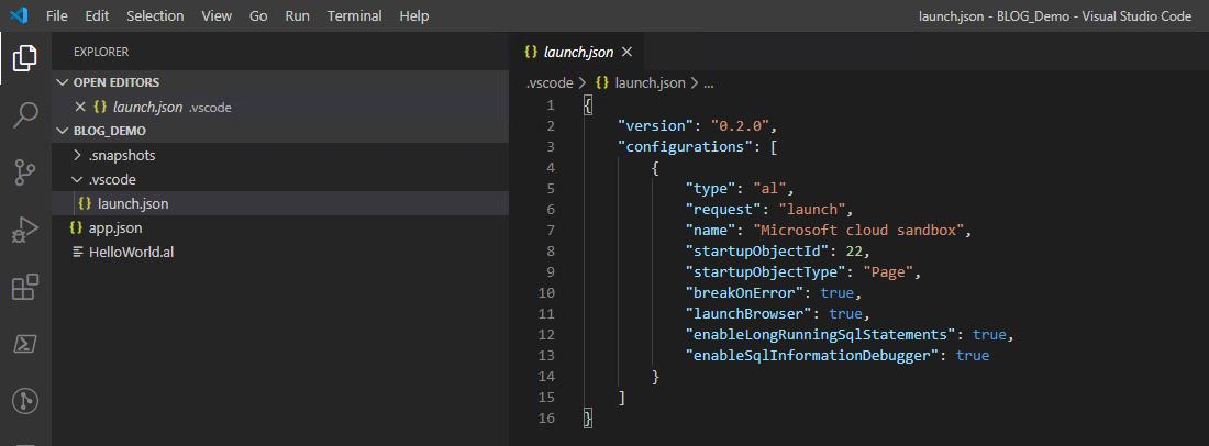 Screenshot_Visual Studio Code_Project launch